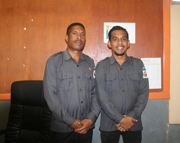 Ketua Bawaslu dan Ketua Pokja Foto Usai Berikan Keterangan, Selasa (19/11). PbP/TLS