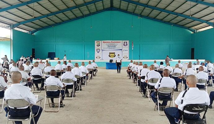 Suasana saat pelatihan satpam berlangsung. PbP/CR35