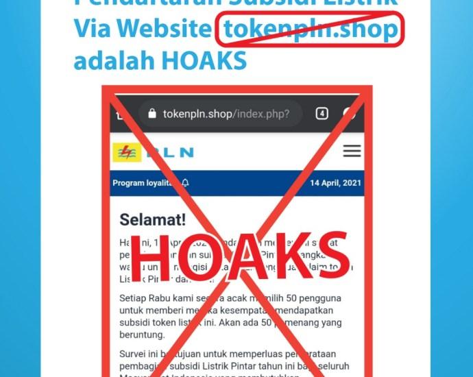website ini hoax. Foto: EKA