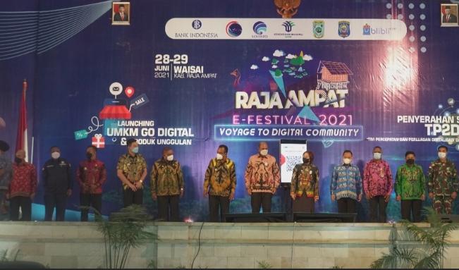 Raja Ampat e-Festival secara virtual dan secara offline, di Gedung Pari, Kompleks Perkantoran Kabupaten Raja Ampat, Waisai, Senin-Selasa (28-29/6).Foto; Istimewa