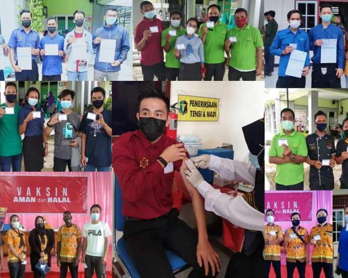 Karyawan Hotel Vega ikut program vaksinasi. Foto: Istimewa