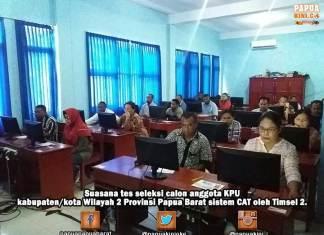Calon Anggota KPU Kab/Kota Papua Barat Wilayah 2 Mulai Tes CAT