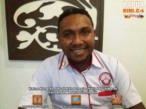 Ketua Kongres Advokat Indonesia (KAI) Papua Barat, Fernando Marthin Ginuny SH