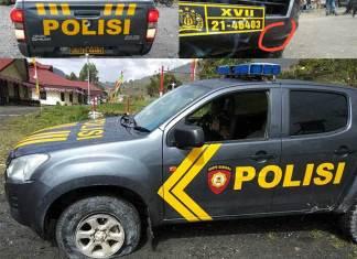 Mobil Polres Puncak Jaya Ditembak KKB