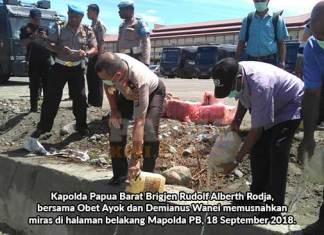 Kapolda Papua Barat: Miras Tidak Hilang Karena Masih Ada Peminum