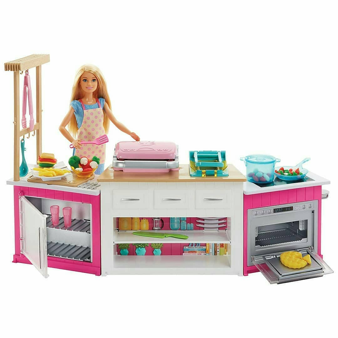 walmart play kitchen sets outdoor appliances promo images of 2018 barbie playsets we saw at new york ...