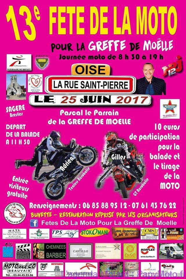 13e Fête de la Moto pour la Greffe de Moëlle – La Rue Saint Pierre (60)