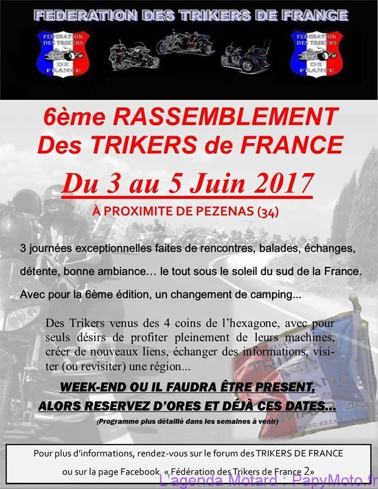 6e Rassemblement des Trikers de France – Pézénas (34)