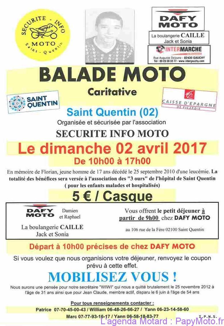 Balade Moto Caritative – Saint Quentin (02)