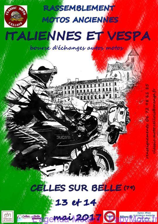 Rassemblement Motos Anciennes Italiennes et Vespa – Celles sur Belle (79)