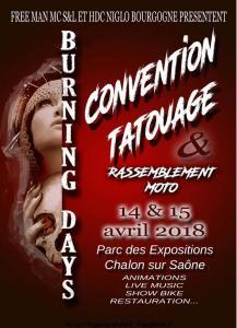 Burning Days Convention Tatouage - Chalon sur Saône (71) @ Parc des Expositions | Chalon-sur-Saône | Bourgogne Franche-Comté | France
