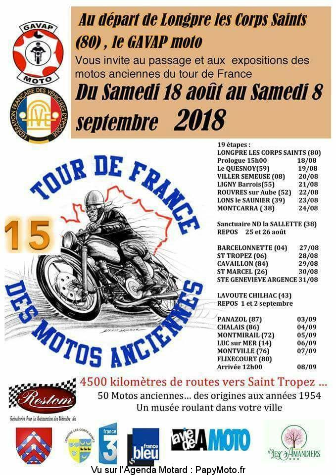 15e Tour de France des Motos Anciennes - France
