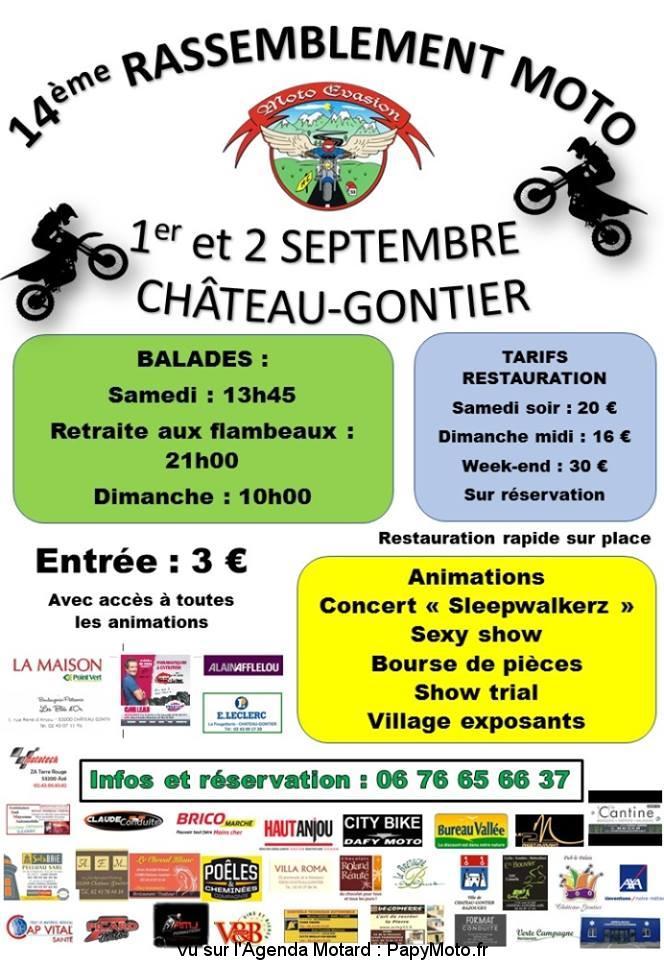 14e Rassemblement Moto – Moto Evasion – Château-Gontier (53)