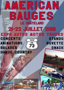 AMÉRICAN BAUGES – LE CHÂTELARD (73) @ LE CHÂTELARD (73) | Le Chatelard | Auvergne-Rhône-Alpes | France