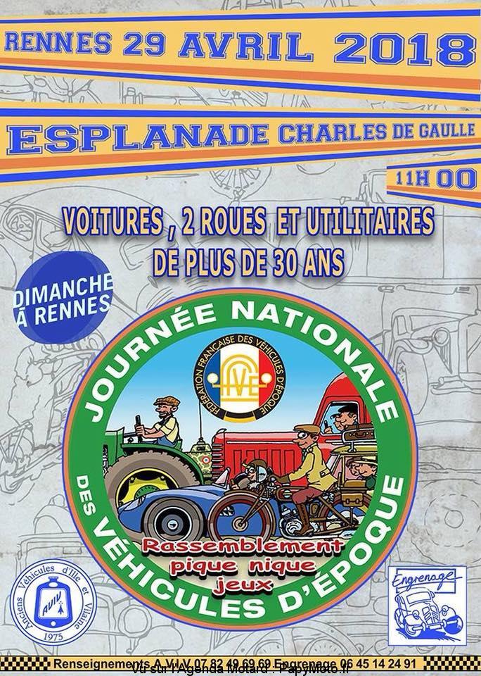 Journée Nationale des Véhicules d'époque – Rennes (35)