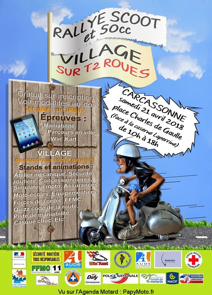 Rallye Scoot et 50 CC – Village sur T2 Roues – Carcassonne (11)