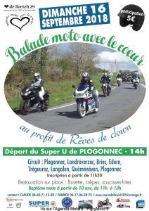 Balade moto avec le Cœur – Plogonnec (29) @ Super U | Plogonnec | Bretagne | France