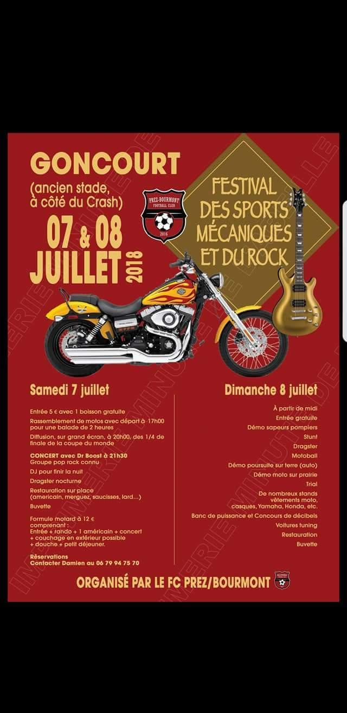 Festival des sports mécaniques et du rock – Goncourt (52)
