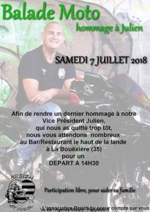 Balade Moto Hommage à Julien - Breizh by Coeur - La Bouëière (35) @ Bar Restaurant Le Haut de la Lande | La Bouëxière | Bretagne | France