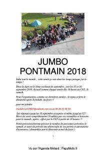 Jumbo Pontmain 2018 - Pontmain (53) @ CAT Pontmain | Pontmain | Pays de la Loire | France