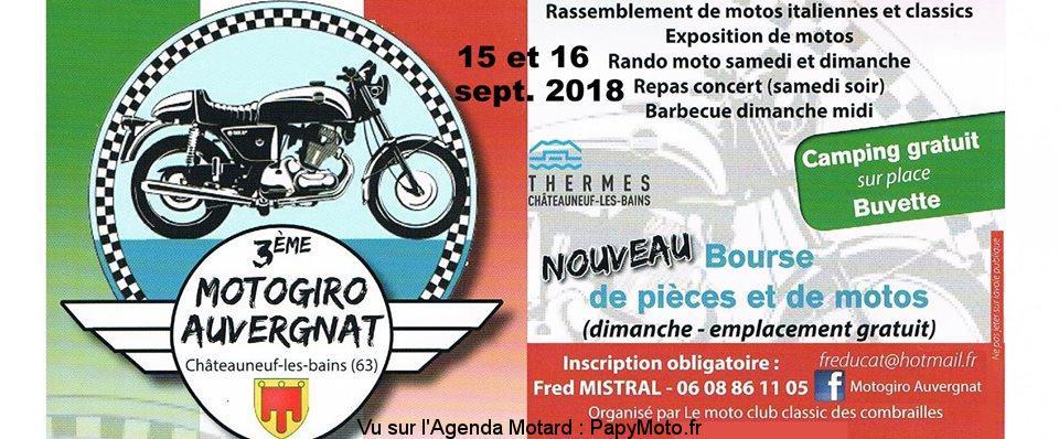 3e Motogiro Auvergnat - Châteauneuf les Bains (63)