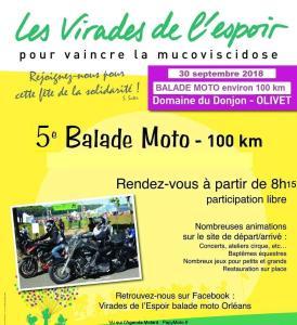 Les Virades de l'Espoir - 5e Balade Moto - Olivet (45) @ Domaine du Donjon | Olivet | Centre-Val de Loire | France