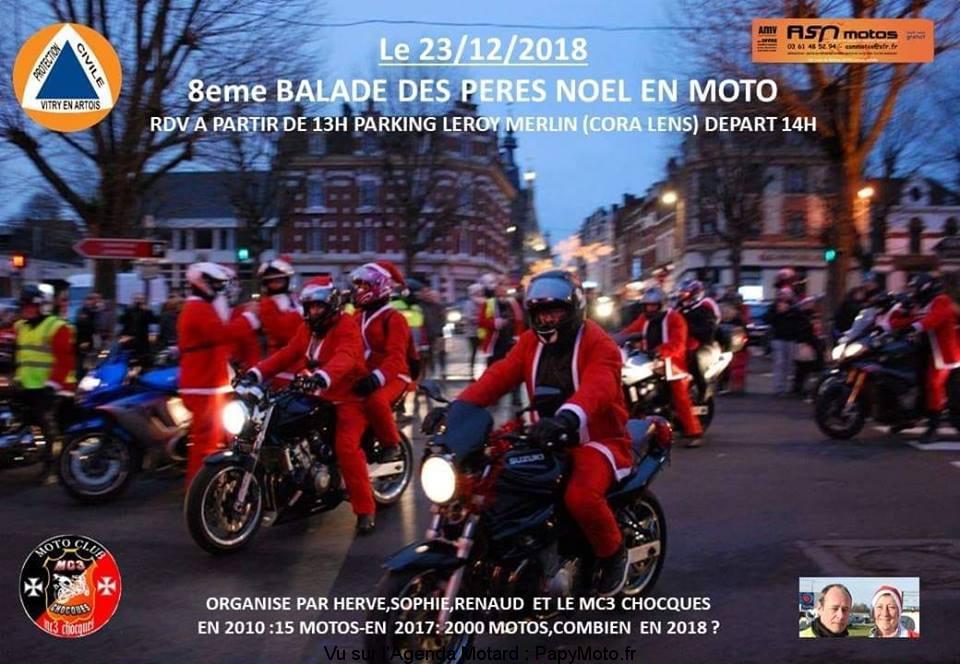 8e Balade des Pêres Noël en Moto - Lens (62)