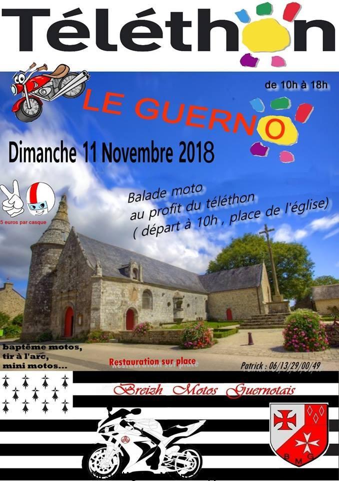 Balade Moto au profit du Téléthon - Breizh Motos Guernolais - Le Guerno (56)