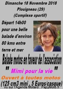 Balade motos en faveur de l'association Mimi pour la vie - Plouigneau (29) @ Complex sportif | Plouigneau | Bretagne | France