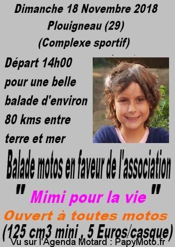 Balade motos en faveur de l'association Mimi pour la vie - Plouigneau (29)
