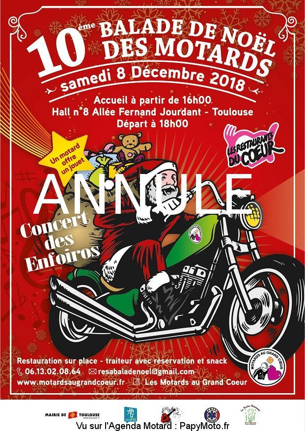 La Balade de Noël - Les motards au grand coeur - Toulouse (31)