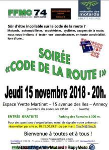 Soirée code de la route - FFMC 74 - Annecy (74) @ Espace Yvette Martinet | Annecy | Auvergne-Rhône-Alpes | France