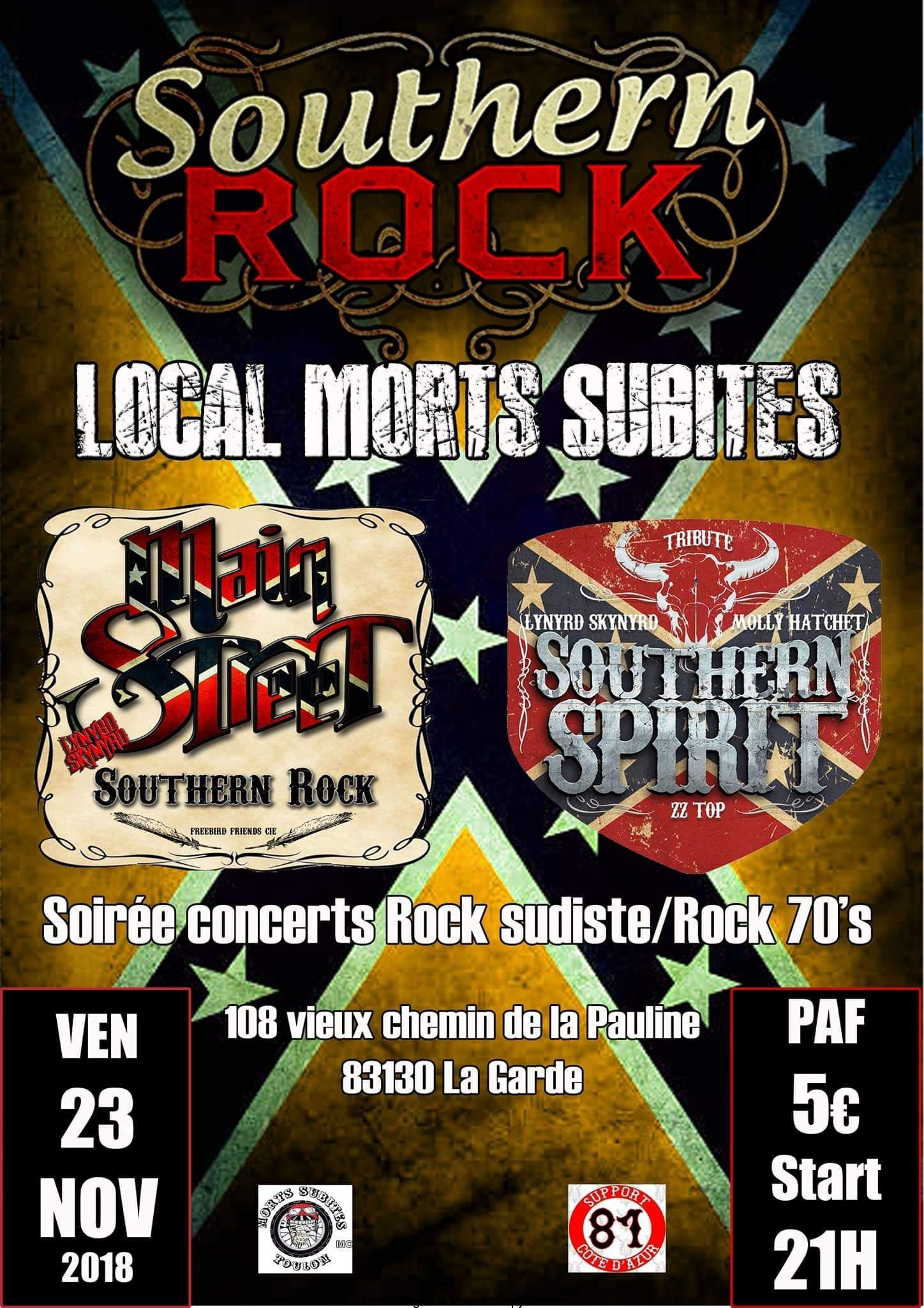 Southern Rock – Morts Subites – La Garde (83)