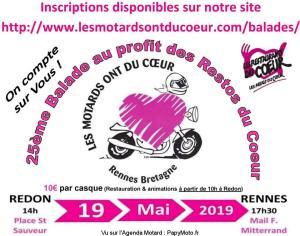 25e Balade au profit des restos du Coeur - Redon - Rennes (35) @ Place Saint Sauveur | Redon | Bretagne | France