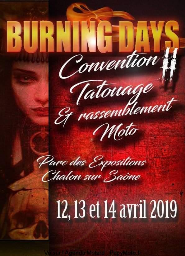 Burning Days Convention Tatouage Chalon Sur Saone 71 Papymoto Fr