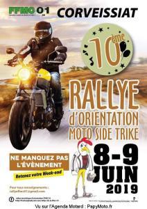10e Rallye d'orientation Moto Side Trike – FFMC 01 – Corveissiat (01)