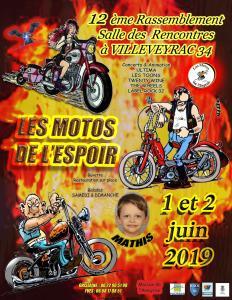 12e Rassemblement les motos de l'Espoir – Villeveyrac (34) @ Salle des Rencontres