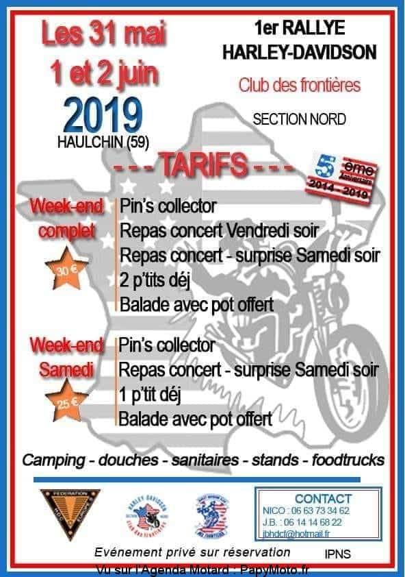 1er Rallye Harley Davidson - Club des frontières - Haulchin (59)