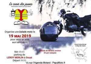Balade moto - Le Coeur des Jaunes - Douai (59) @ Parking Leroy Merlin
