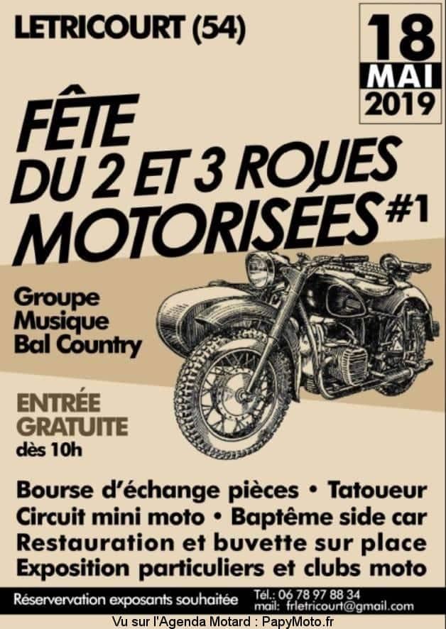 Fête du 2 et 3 roues Motorisées #1 – Letricourt (54)