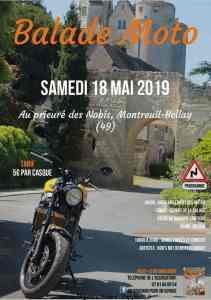 Balade Moto - Montreuil-Bellay (49) @ Prieuré des Nobis | Montreuil-Bellay | Pays de la Loire | France