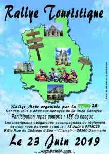 Rallye Touristique - FFMC 28 - Chartres (28) @ Abbayes de Saint Brice | Chartres | Centre-Val de Loire | France
