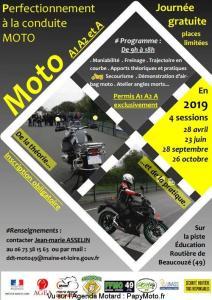 Perfectionnement à la conduite Moto - Beaucouzé (49) @ Piste d'éducation routière