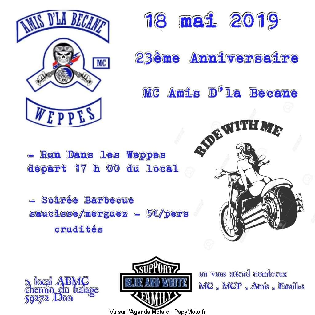23e Anniversaire – MC Amis D'la Bécane – Don (59)