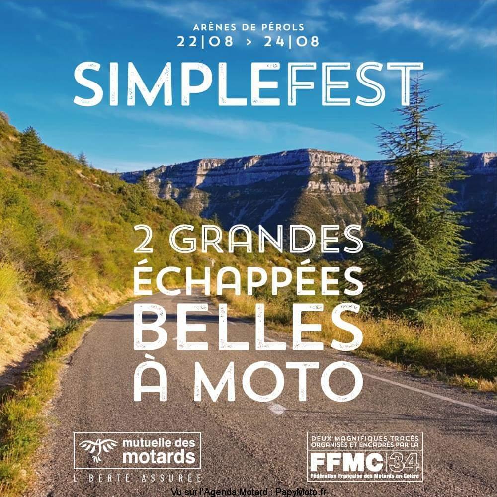 Simplefest – 2 grandes échappées belles à moto – FFMC 34 – Perols (34)