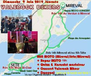 Valerock Bikers - Run Moto - Séte - Mireval (34) @ Mireval   Mireval   Occitanie   France