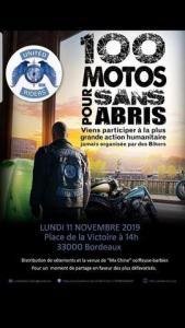 100 Motos pour sans abris – United Riders – Bordeaux (33) @ Place de la Victoire | Bordeaux | Nouvelle-Aquitaine | France