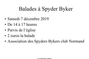TELETHON - Spyders bykers club Normand - Vimoutiers (61) @ Normandie | Vimoutiers | Normandie | France