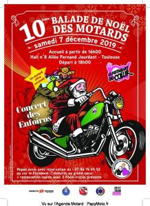 10e Balade de Noël des Motards – Toulouse (31) @ Hall 8 Allée Fernand Jourdant | Toulouse | Occitanie | France