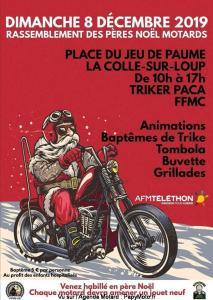 Rassemblement des Pères Noël motards - Triker PACA - FFMC- La Colle-sur-Loup (06) @ La Colle-sur-Loup | Provence-Alpes-Côte d'Azur | France